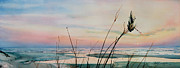 Beach Sunset Paintings - Beyond The Sand by Hanne Lore Koehler