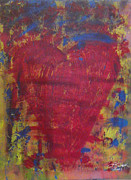 Abstract Heart Paintings - Beyond the Scars by Chelsea VanHook