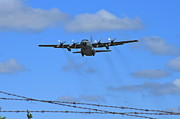 C130 Prints - Beyond The Wire Print by Rick  Monyahan