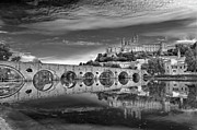 Black And White Photography Metal Prints - Beziers Cathedral Metal Print by Photograph by Paul Atkinson