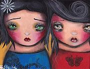 Lowbrow Painting Framed Prints - Bff Framed Print by  Abril Andrade Griffith