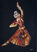 Tamilnadu Paintings - Bharathanatyam by Nithya
