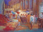 Night Pastels - Bhuj Night Market by Beth Brooks