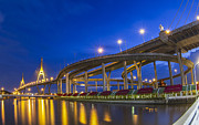 Spans Prints - Bhumibol bridge Print by Anek Suwannaphoom