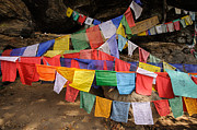 Asian Culture Prints - Bhutanese Prayer Flags Print by Marketa Ebert