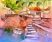 Travel Sketch Digital Art - Biarritz 18 bis by Miki De Goodaboom