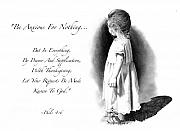 Bible Verse With Drawing Of Child Print by Joyce Geleynse