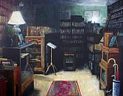 Library Paintings - Bibliopoly by Victoria Heryet