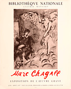 Mourlot Paintings - Bibliotheque Nationale by Marc Chagall