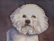 Nursery Room Art Prints Paintings - Bichon Frise Dog by Teresa Silvestri