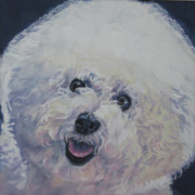 Bichon Frise Framed Prints - Bichon Frise Framed Print by Lee Ann Shepard