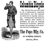 1880s Framed Prints - Bicycle Ad, 1880 Framed Print by Granger