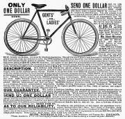1898 Photos - Bicycle Advertisement, 1898 by Granger