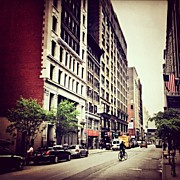 Landscapes Art - Bicycle and Buildings in New York City by Vivienne Gucwa