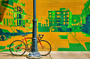 Chained Prints - Bicycle And Mural Print by Steven Ainsworth