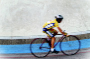 Runner Posters - Bicycle Blur Poster by Jim DeLillo