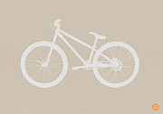 Midcentury Digital Art - Bicycle Brown Poster by Irina  March