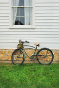 Clapboard House Photo Framed Prints - Bicycle by House Framed Print by Jill Battaglia