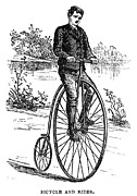Penny Farthing Framed Prints - BICYCLE, c1870s Framed Print by Granger