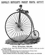Penny Farthing Photo Acrylic Prints - Bicycle Camera Ad, 1887 Acrylic Print by Granger