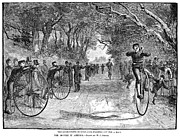 Penny Farthing Framed Prints - Bicycle Club Race, 1880 Framed Print by Granger