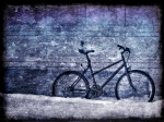 Frozen Digital Art Framed Prints - Bicycle Framed Print by Evelina Kremsdorf