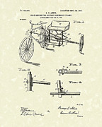 Bicycle Drawings Posters - Bicycle Extension Frame 1903 Patent Art Poster by Prior Art Design