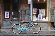 Exterior Pictures Posters - Bicycle in Front of a Storefront Poster by Jeremy Woodhouse