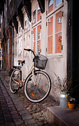 Jylland Prints - Bicycle in Ribe Print by Paul Davis