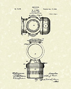 Antique Drawings - Bicycle Lamp Design 1900 Patent Art by Prior Art Design