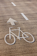 Tel Aviv Photos - Bicycle Lane Directions by Jeremy Woodhouse