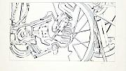 Mechanical Drawings - Bicycle by Maryn Crawford