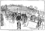 Penny Farthing Photo Acrylic Prints - Bicycle Meet, 1883 Acrylic Print by Granger