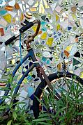 Stil Life Posters - Bicycle Mosaic Poster by Heather S Huston