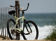 Carolina Art Prints - Bicycle on the Beach Print by Julie Niemela
