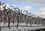 Cycling Framed Prints - Bicycle parking in Amsterdam. Framed Print by Fernando Barozza