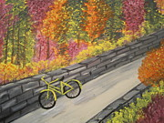 Bicycles Paintings - Bicycle Path by Monica Maher