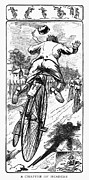 Penny Farthing Prints - Bicycle Race Accident, 1880 Print by Granger