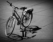 Bicycle Art Posters - Bicycle Shadow Poster by Perry Webster