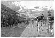 Penny Farthing Prints - Bicycle Tournament, 1886 Print by Granger