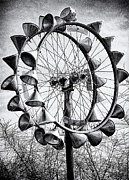 Dent Posters - Bicycle Wheel Sculpture Poster by Ron Regalado