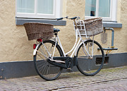 Ladies Bike Photos - Bicycle With Double Basket by Hans Engbers