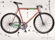 Colored Pencil Prints - BicycleBicycleBicycle Print by Emily Jones