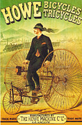 Howe Posters - Bicycles and Tricycles Poster by Nomad Art And  Design