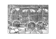 Bicycle Drawings - Bicycles by DeAnna Hutson