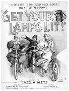 Bloomers Posters - Bicycles: Songsheet, 1895 Poster by Granger