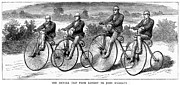 Bicycling Photos - Bicycling, 1873 by Granger