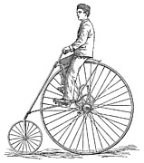 Penny Farthing Prints - Bicycling, 1880 Print by Granger