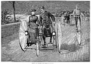 Penny Farthing Prints - Bicycling, 1886 Print by Granger