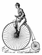 Penny Farthing Photos - BICYCLING, c1890 by Granger